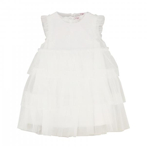 Il Gufo dress in tulle with flounces