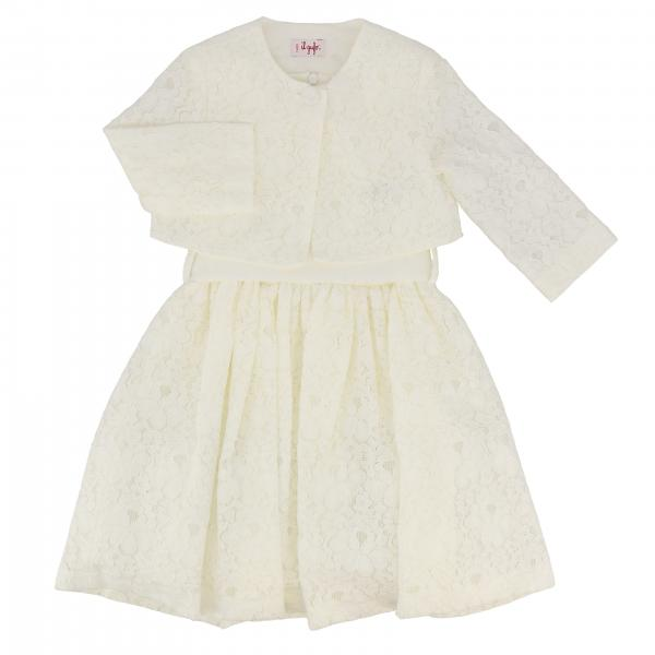 Il Gufo lace jacket + dress set