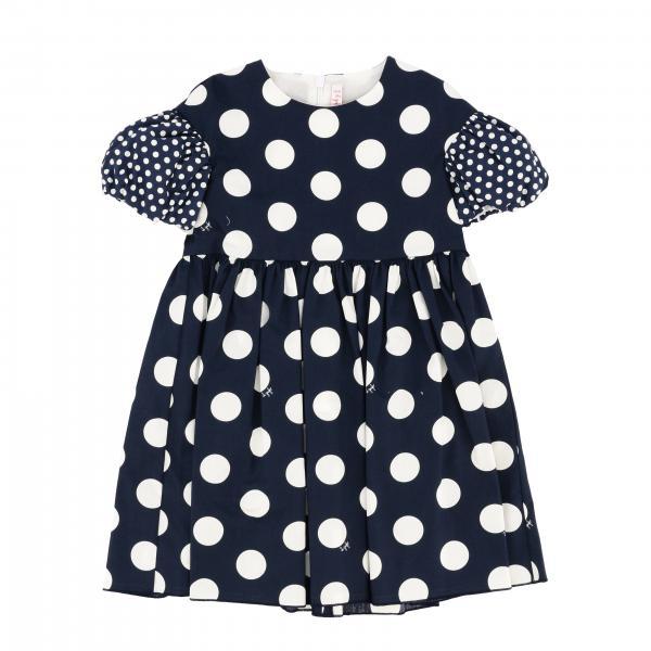 Il Gufo polka dot dress