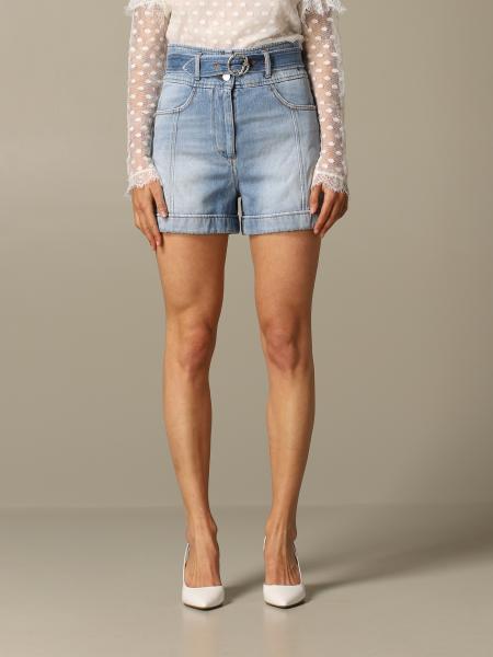 Pantaloncino di jeans Just Cavalli a vita alta con cinta