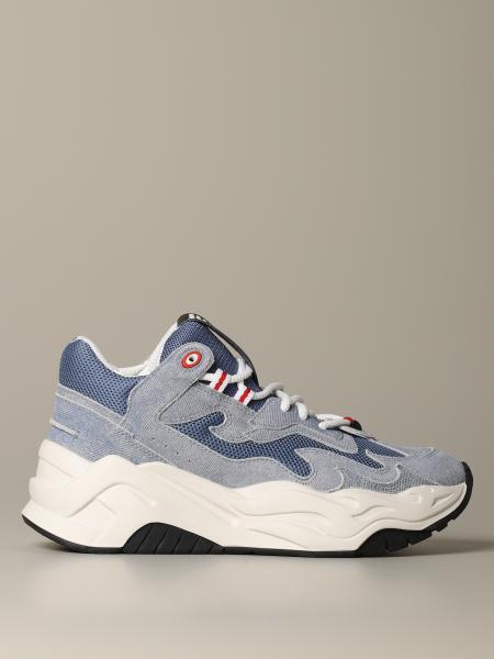 Sneakers Python Just Cavalli in denim e macro rete