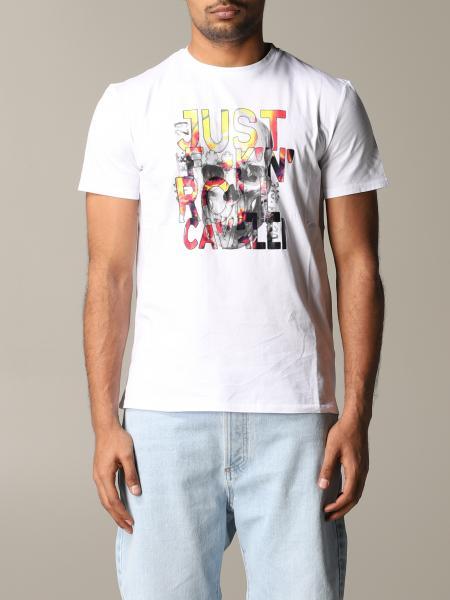 T-shirt Just Cavalli con stampa teschio