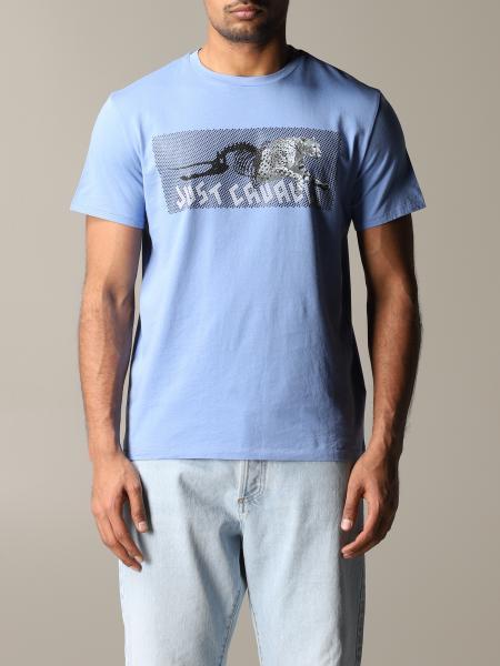 T-shirt Just Cavalli con logo e tigre