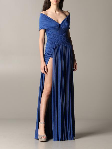 Elisabetta Franchi 金银丝面料连衣裙