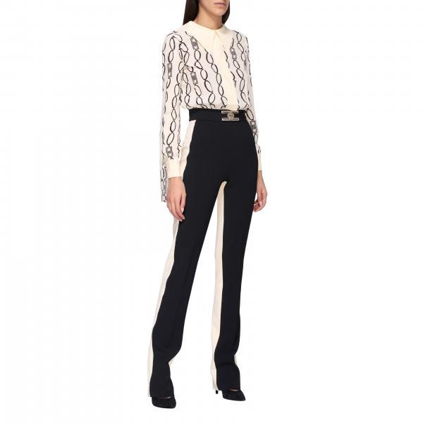 Elisabetta Franchi 链条印花双色连体裤