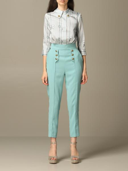 Elisabetta Franchi jumpsuit with knot print and logo
