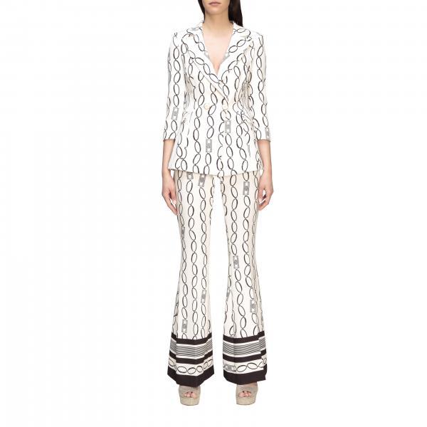 Completo giacca + pantalone Elisabetta Franchi con stampa catene