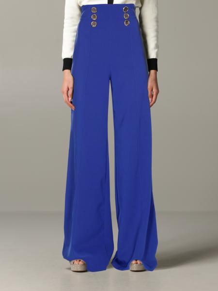 Elisabetta Franchi 金属扣装饰裤子