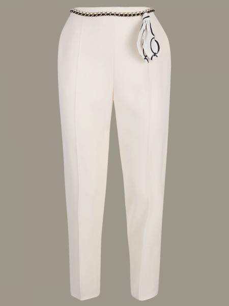 Elisabetta Franchi 珠宝链条修身裤子