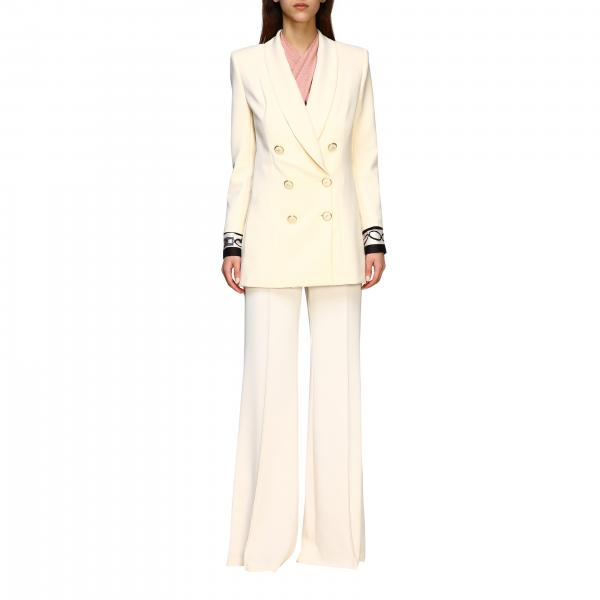 Elisabetta Franchi 手腕印花双排扣外套