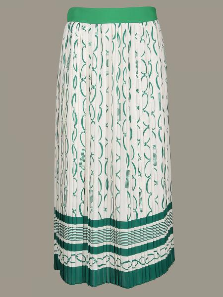 Jupe plissée Elisabetta Franchi avec imprimé chaînes