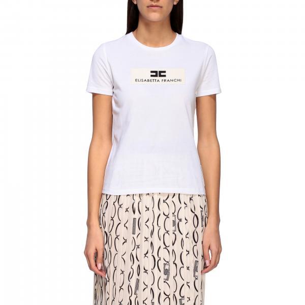 T-shirt Elisabetta Franchi a girocollo con logo