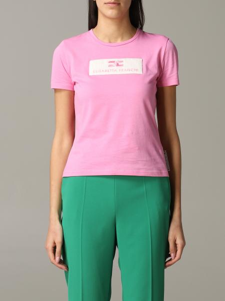 Elisabetta Franchi logo 圆领T恤