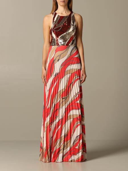 Robes robe longue elisabetta franchi à paillettes Elisabetta Franchi - Giglio.com