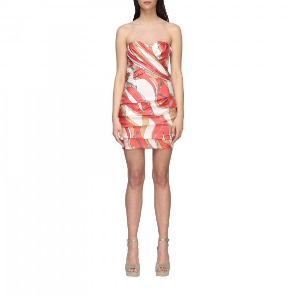 Dress elisabetta franchi bi-elastic silk dress with chain print Elisabetta Franchi - Giglio.com