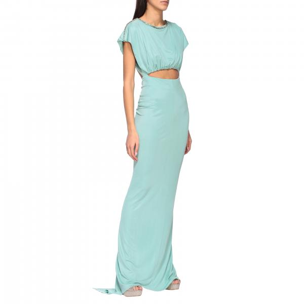 Elisabetta Franchi Long dress with rhinestones