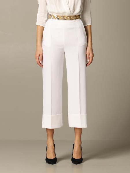 Pantalone Elisabetta Franchi in crêpe con paillettes