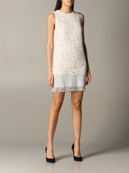 Elisabetta Franchi Kleid aus Tweed und Spitze