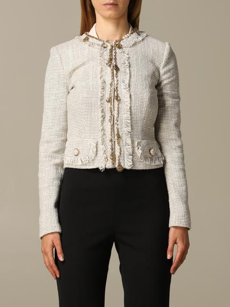 Giacca Elisabetta Franchi in tweed di cotone