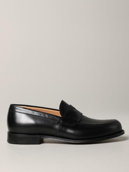 Dawley Church's loafer in leather with sleeper