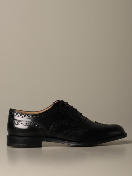 Burwood Church's derby in brushed leather with brogue motif