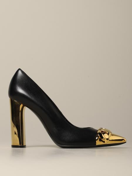 Casadei décolleté in leather with metal tip