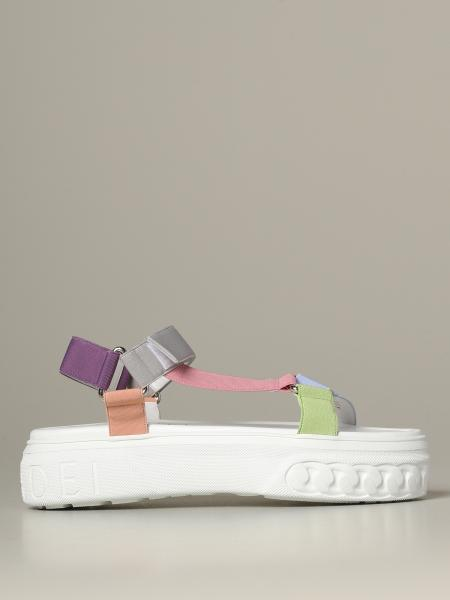Casadei multicolor sandal with sneakers sole