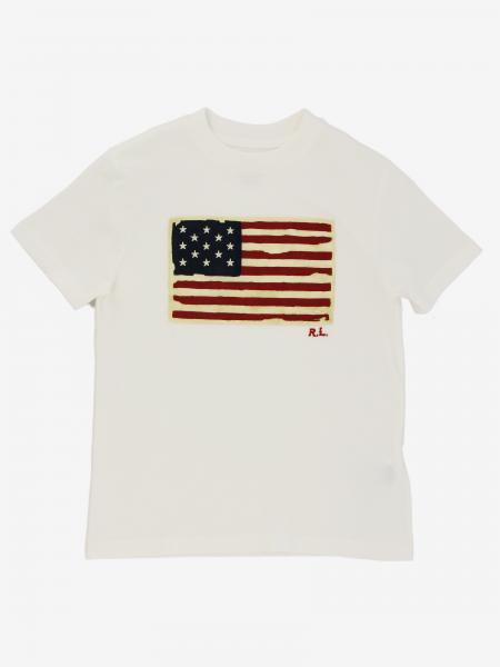 Polo Ralph Lauren Boy t-shirt with flag print
