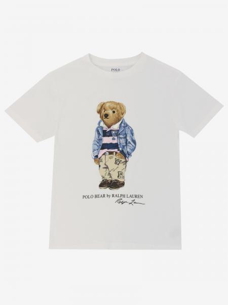 T-shirt Polo Ralph Lauren Boy con stampa orso