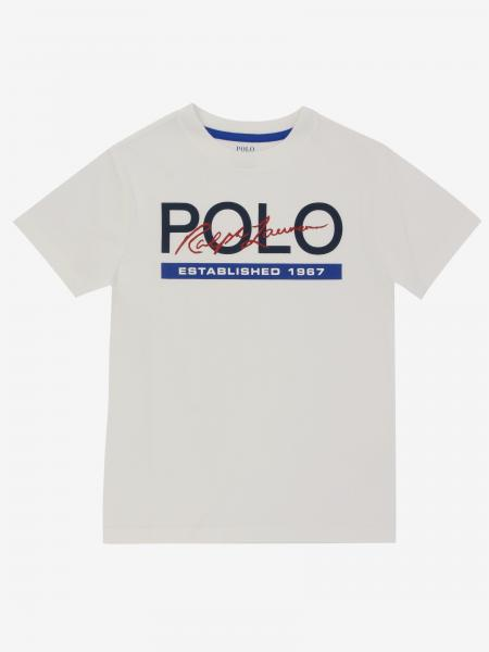 T-shirt Polo Ralph Lauren Boy con stampa logo