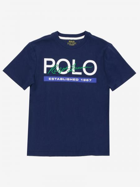 Polo Ralph Lauren Boy logo印花T恤