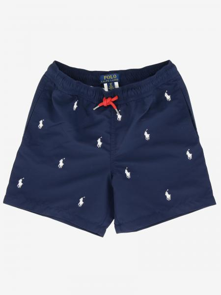 Short de bain Polo Ralph Lauren Boy avec logo all over