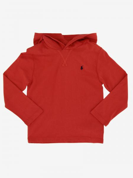 Sweat Polo Ralph Lauren Kid avec capuche et logo