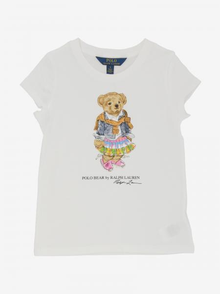 T-shirt Polo Ralph Lauren Kid avec imprimé ourson