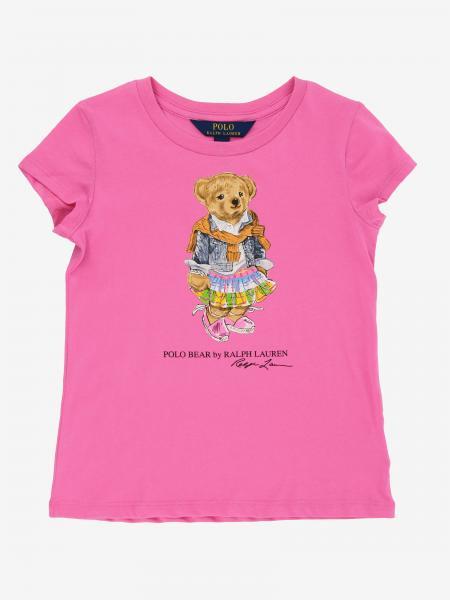 T-shirt Polo Ralph Lauren Toddler avec ourson