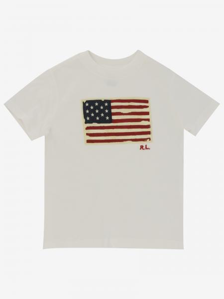 Polo Ralph Lauren Toddler T-Shirt mit Flagge
