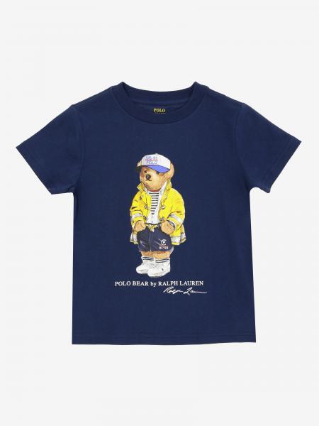T-shirt Polo Ralph Lauren Kid avec imprimé ours