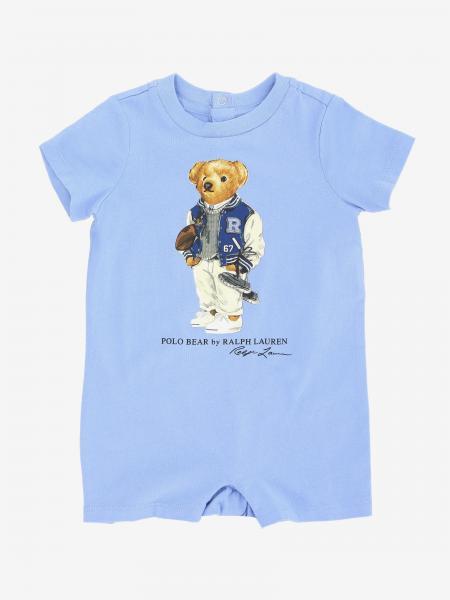 Tutina Polo Ralph Lauren Infant in cotone con orsetto