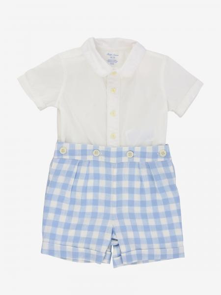 Polo Ralph Lauren Infant romper with vichy bermuda