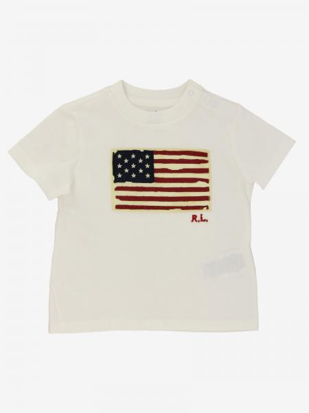 T-shirt Polo Ralph Lauren Infant con stampa bandiera