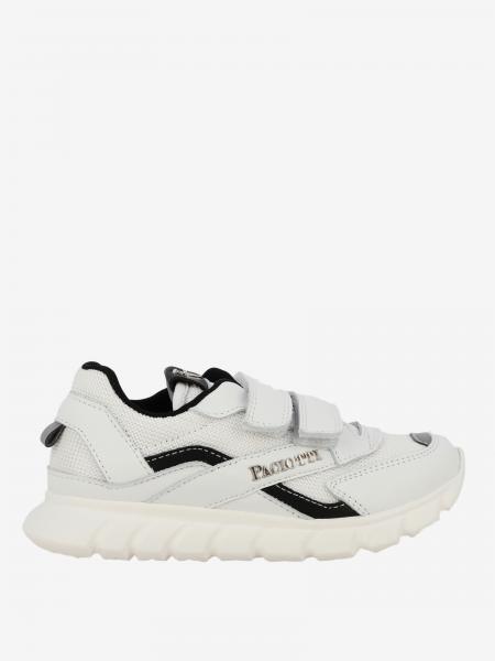 Sneakers Paciotti 4US in pelle e rete con velcro