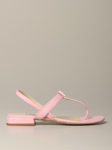Yc81 Furla flat sandal in nappa leather