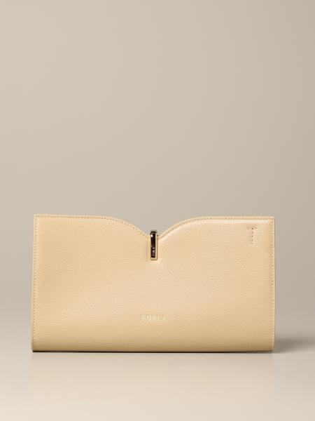 Ribbon S Furla clutch bag in leather