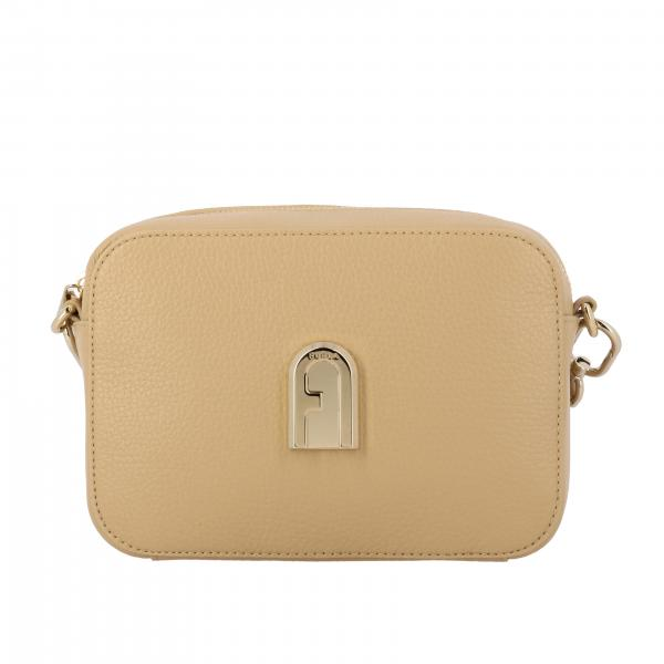 Borsa sleek mini camera case Furla in pelle operata