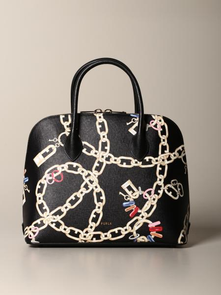 Furla bag with chain print