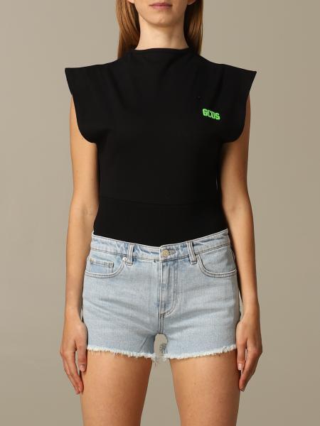 GCDS sleeveless body with logo