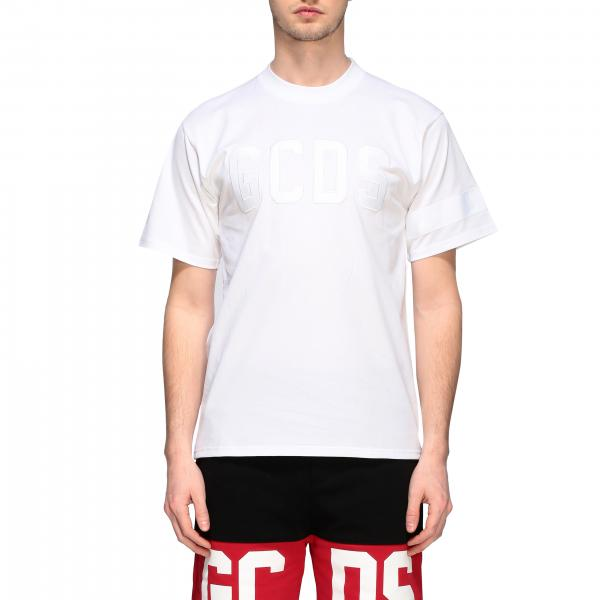 GCDS crew neck t-shirt with logo print
