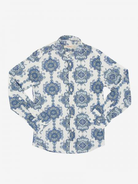 Baronio patterned linen shirt