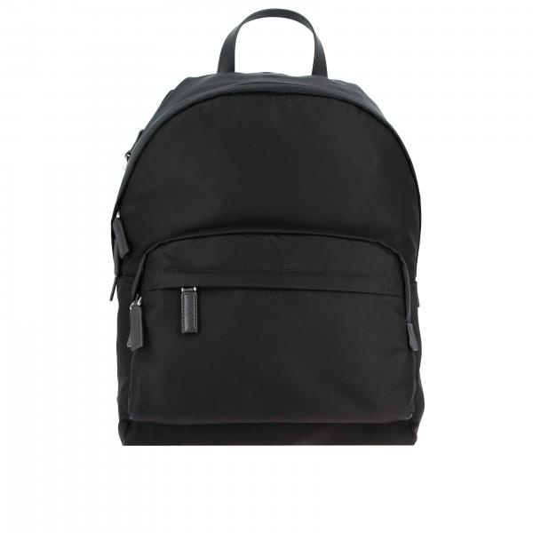 Prada nylon backpack with triangular logo