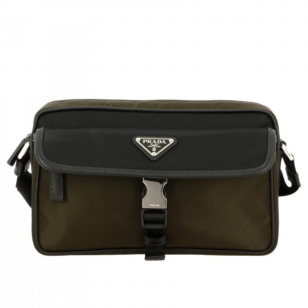 Prada nylon shoulder bag with triangular logo